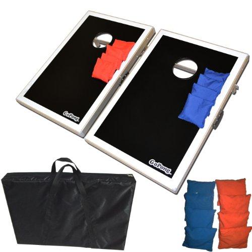 GoSports CornHole Bean Bag Toss Game Set - Superior Aluminum Frame