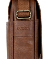 Duzign Rover Messenger Bag (Light Brown) for 11 Inch MacBook Air + Pocket for Apple iPad
