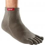 Injinji Performance Mini-Crew Toe Socks, Grey, Small