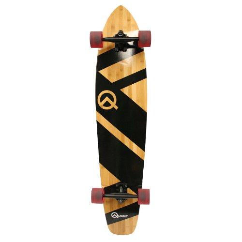 Quest Super Cruiser Artisan Bamboo Longboard Skateboard (44-Inch)
