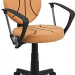 Flash Furniture BT-6178-BASKET-A-GG Basketball Task Chair with Arms, Black/Orange