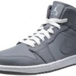 Nike Men's NIKE AIR JORDAN 1 MID BASKETBALL SHOES 10.5 Men US (COOL GREY/WHITE/COOL GREY)