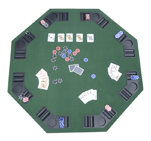 Deluxe Foldable Poker / Blackjack Card Game Table Top w/ Carrying Bag