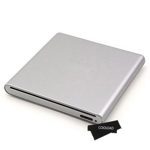 COOLEAD-Slot Loading External USB M-DISC DVD+-RW CD RW Burner Writer Drive For Apple MacBook Air Pro iMac Mac OS Laptop Desktop PC Cumputer Windows 98/2000/ME/XP/VISTA/7/8 OS, Silver