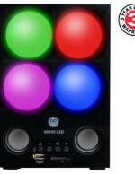 GOgroove MOVE L3D Rechargeable Stereo Speakers & Mood Lamp Night Light w/ 3.5mm AUX-in - Works with Apple , Samsung , Sony , HTC , LG and More Phones , MP3 Players , Tablets and Computers