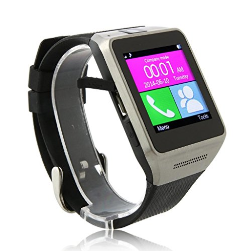 CIYOYO GV08 Smart Watch Touch Screen Bluetooth Watchphone with Pedometer Sports&Sleep Tracking Health Fitness Automatic Sync Function for Samsung S5/S4/S3 NOTE3/NOTE2 HTC Sony Android Cellphones(Black)