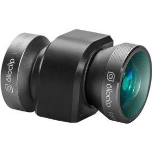 olloclip iPhone 5/5s 4-IN-1 lens system: Fisheye, Wide-Angle, 10x Macro and 15x Macro. Includes: caps, bag, and iPod touch 5th Generation adapter – Space Gray Lens/Black Clip