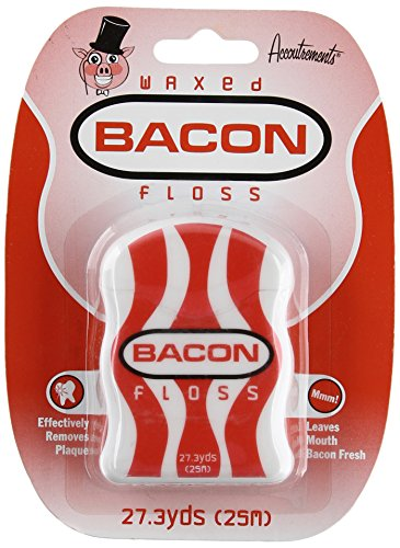 Accoutrements Waxed Bacon Floss - Gifts for Teen Boys - Stocking Stuffers for Teen Boys