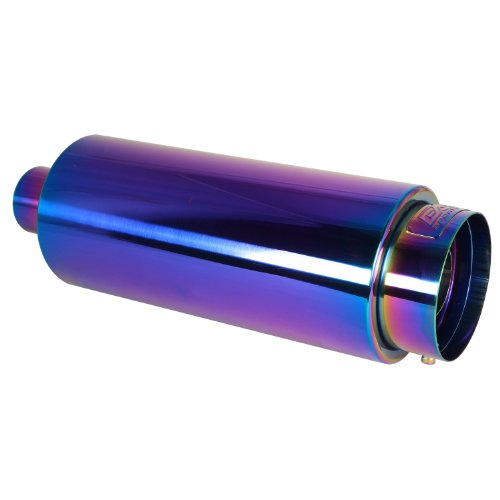 DC Sport EX-5022 Round Chameleon Anodized Muffler and Exhaust Tip
