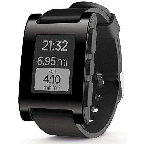 pebble smart watch black