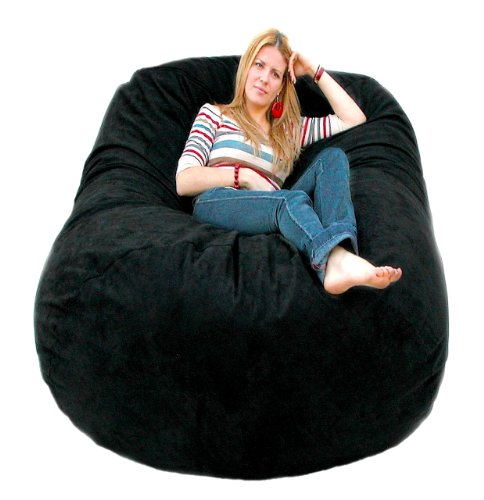 Cozy Sack 6-Feet Bean Bag Chair, Large, Black