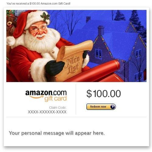 Amazon Gift Card – E-mail – Merry Christmas (Santa Claus)