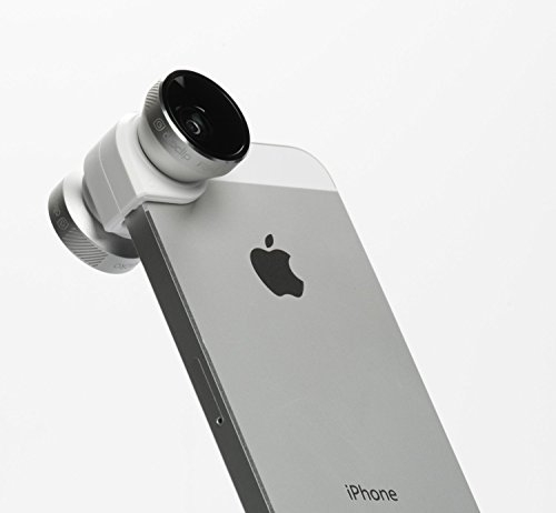 olloclip 4-in-1 Lens Solution for iPhone 5/5s – Silver/White