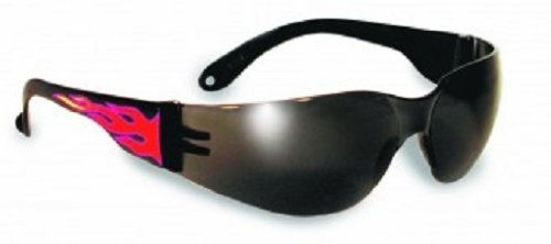 Global Vision Eyewear Rider Safety Glasses, Flame/Smoke Tint Lens
