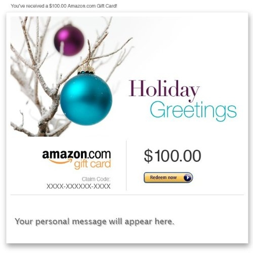 Amazon Gift Card – E-mail – Christmas (Tree Ornaments)