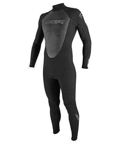O'Neill Wetsuits Men's Reactor 3/2mm Full Suit, Black, Large