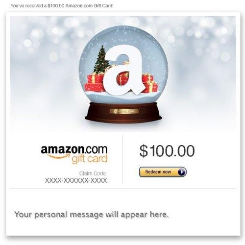 Amazon Gift Card – E-mail – Holiday Snow Globe
