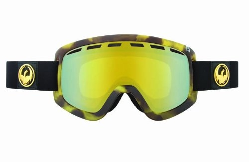 Dragon Alliance D1 Snow Goggles, Retro Tort, Gold Ionized